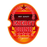 Energy drink label Royalty Free Stock Photo