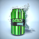 Energy Drink with Splash Stock Photography