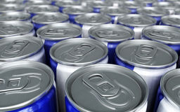 Energy drinks cans. (close-up Stock Photography