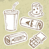 Energy Drinks Set Royalty Free Stock Photos