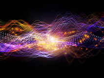 Energy of Dynamic Waves Stock Image