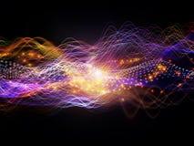 Energy of Dynamic Waves Stock Image