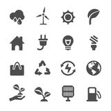 Energy and ecology icon set, vector eps10 Royalty Free Stock Images