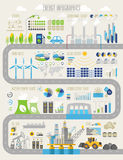 Energy and ecology Infographic set. With charts and other elements Royalty Free Stock Photography