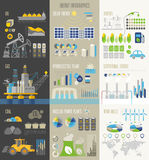 Energy and ecology Infographics with charts. Stock Photo