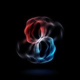Energy effect - Abstract red and blue smoke circles - Neon glowing circles backdrop Stock Image