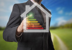 Energy efficency. Conceptual image with energy classes Stock Photography