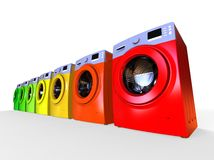 Energy efficiencent Washing Machine concept Royalty Free Stock Image