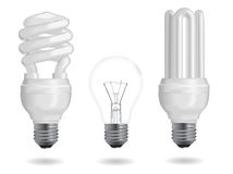 Energy efficiency bulb Royalty Free Stock Images