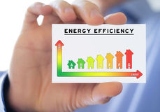 Energy efficiency. Business card concept Royalty Free Stock Photo