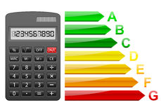 Energy efficiency calculator Royalty Free Stock Image