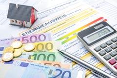 Energy efficiency certificate Stock Photos