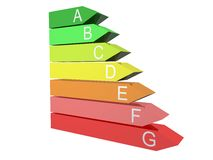 Energy Efficiency Chart. In 3D Stock Images
