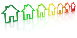 Energy efficiency class Stock Image