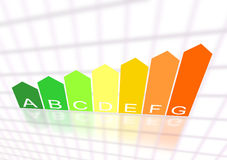 Energy efficiency classification stock images