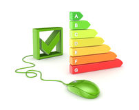 Energy efficiency concept. On white background.3d rendered Stock Photo