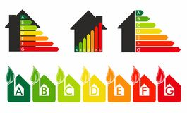 Energy efficiency concept. In home Stock Images