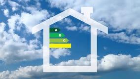 Energy efficiency concept stock video