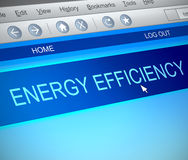 Energy efficiency concept. Illustration depicting a computer screen capture with an energy efficiency concept Stock Photo
