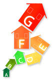 Energy Efficiency - Concept image. With colored houses isolated on white background Stock Photography