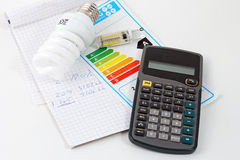 Energy efficiency. Concept with energy rating chart Stock Photo
