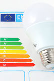 Energy efficiency. Concept with energy rating chart royalty free stock images