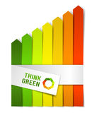 Energy efficiency concept. Think green Royalty Free Stock Photography