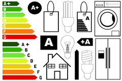 Energy efficiency elements Royalty Free Stock Image