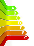 Energy efficiency graphic Stock Images