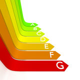 Energy efficiency graphic Royalty Free Stock Photography