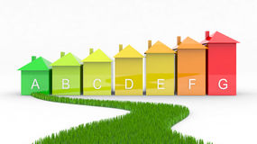 Energy efficiency with green way Royalty Free Stock Photography