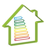 Energy efficiency in the home. Housing energy efficiency rating certification system Royalty Free Stock Image