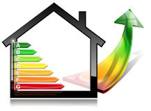 Energy Efficiency - House with Energy Saving Royalty Free Stock Photography