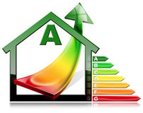Energy Efficiency - House with Energy Saving Royalty Free Stock Photo