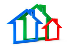 Energy Efficiency House Icons Royalty Free Stock Images