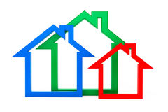 Energy Efficiency House Icons Royalty Free Stock Photo