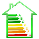 Energy efficiency house Stock Photos