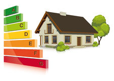 Energy efficiency in the house. Vector illustration of Energy efficiency in the house Stock Photo