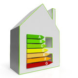 Energy Efficiency Housing Diagram Shows Classification Stock Photography