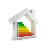 Energy efficiency. Housing energy efficiency rating certification system Stock Images