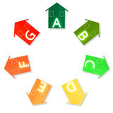 Energy Efficiency. Housing energy efficiency rating certification system Stock Photos