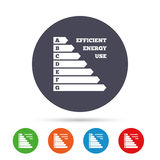 Energy efficiency icon. Electricity consumption. Stock Image