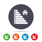 Energy efficiency icon. Electricity consumption. Royalty Free Stock Photo