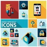 Energy Efficiency Icons Set Royalty Free Stock Photo