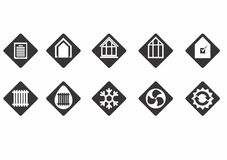 Energy efficiency icons Stock Images