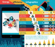 Energy Efficiency Infographics Stock Image