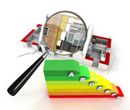 Energy efficiency inspection Stock Image