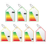 Energy efficiency label set. Royalty Free Stock Photo