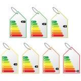 Energy efficiency label set. stock illustration