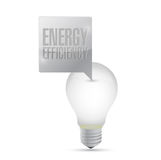 Energy efficiency light bulb illustration design Royalty Free Stock Photos